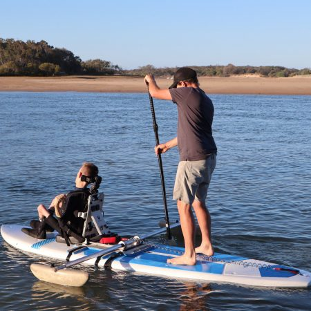 Clint and Riley Paddle Boarding with Polyspine