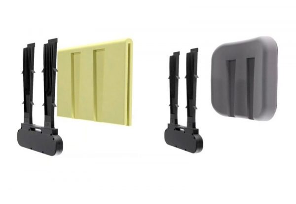 2 different size wheel air hard rigid backrests