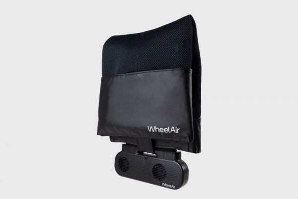 Black Wheel Air Back Rest and Ventilation unit