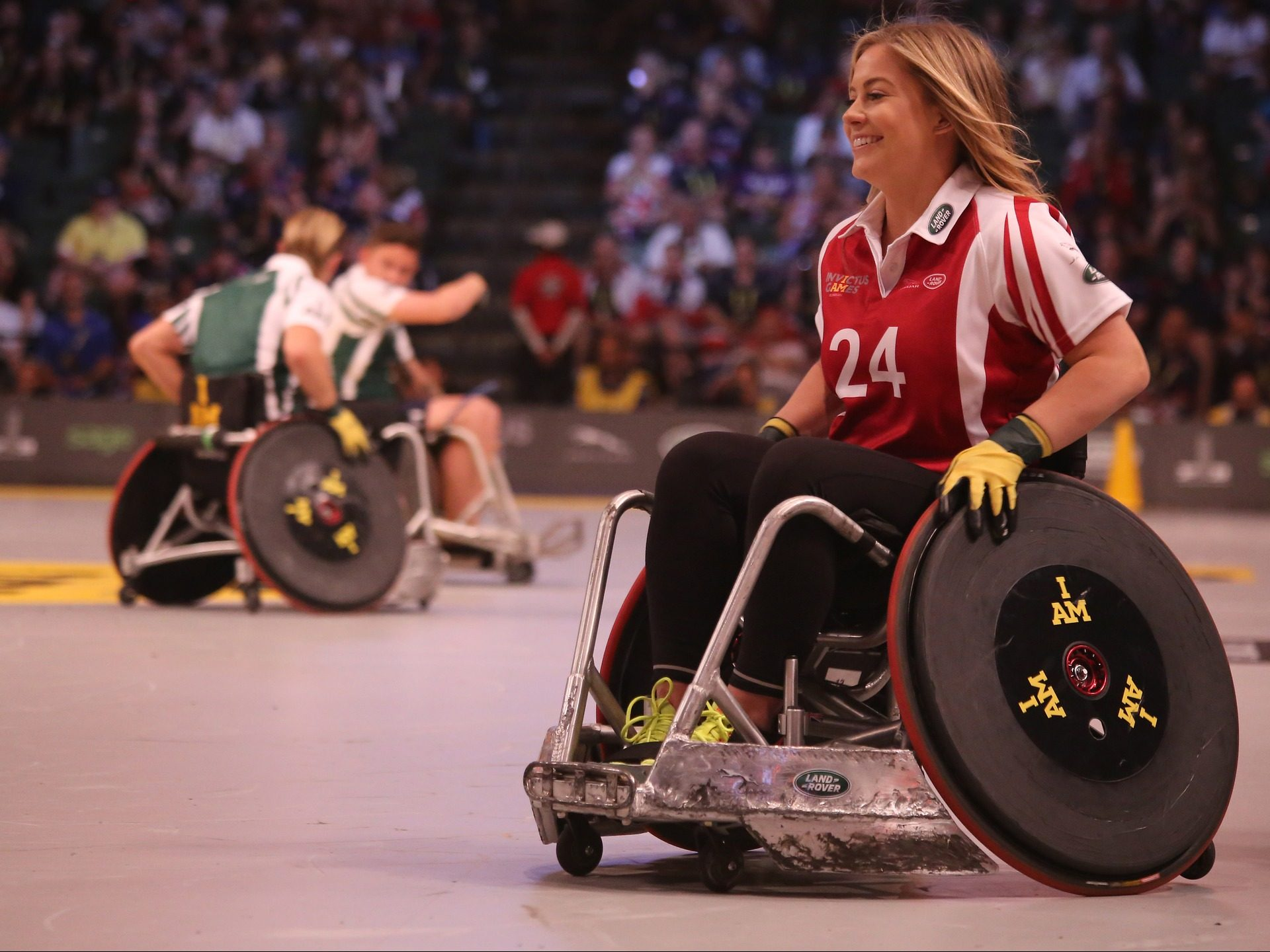 Wheelchair Basketball athlete during basketball game