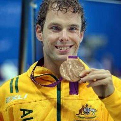 Matt Levy OAM with gold medal