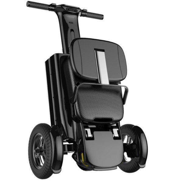 Relync Scooter folded to Trolley Mode