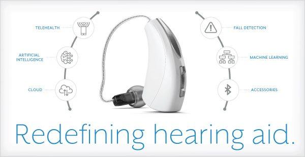 Livio AI redefining hearing with white Livio AI Hearing aid