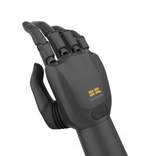 Black AI Prosthetic Hand