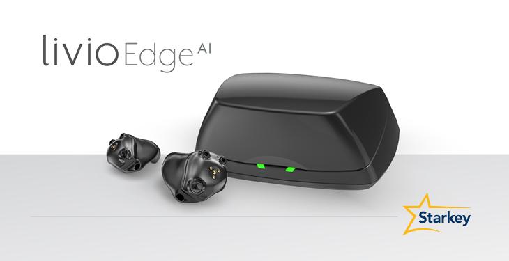 Livio Edge AI small black hearing aid