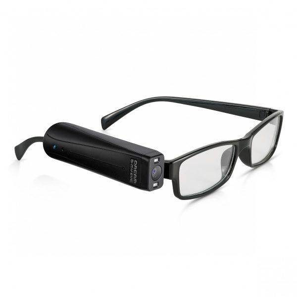 OrCam My eye on black glasses frame