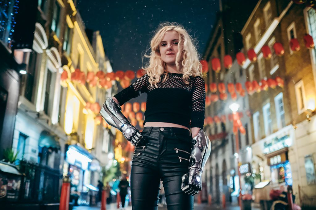 Tilly Alita with two Bionic Hero Arm