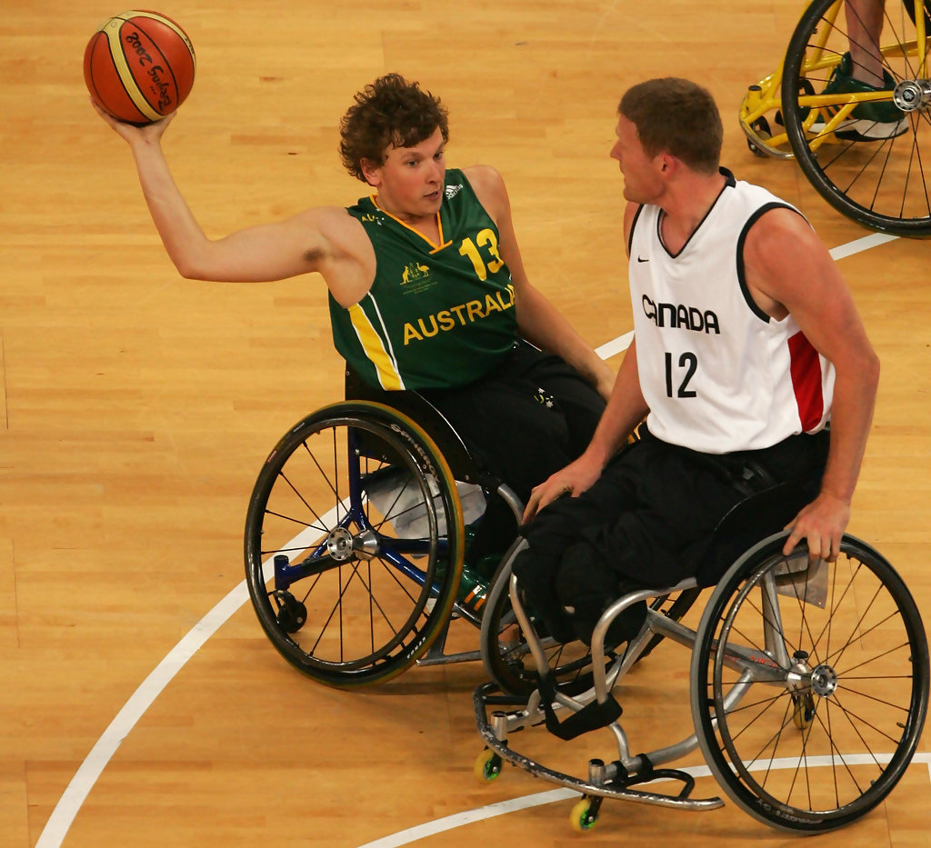 Dylan Alcott Playing basketball at the 2008 Paralympics