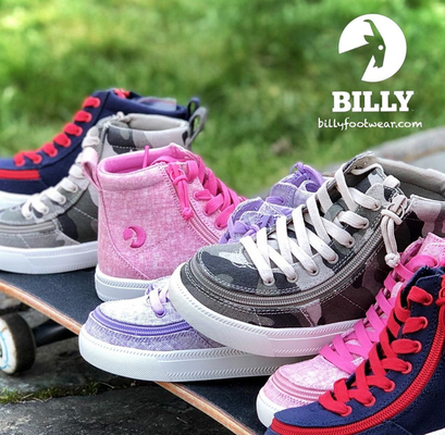 Range of Billy Shoes with side zips for easy access