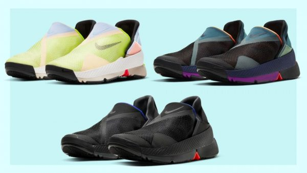 Nike Go flyease in black and multicolored running shoes