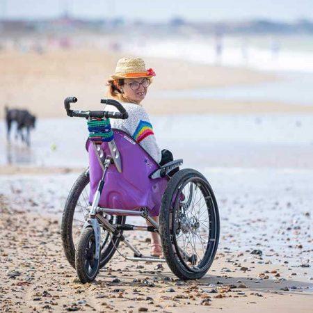 K2 Manual beach wheelchair