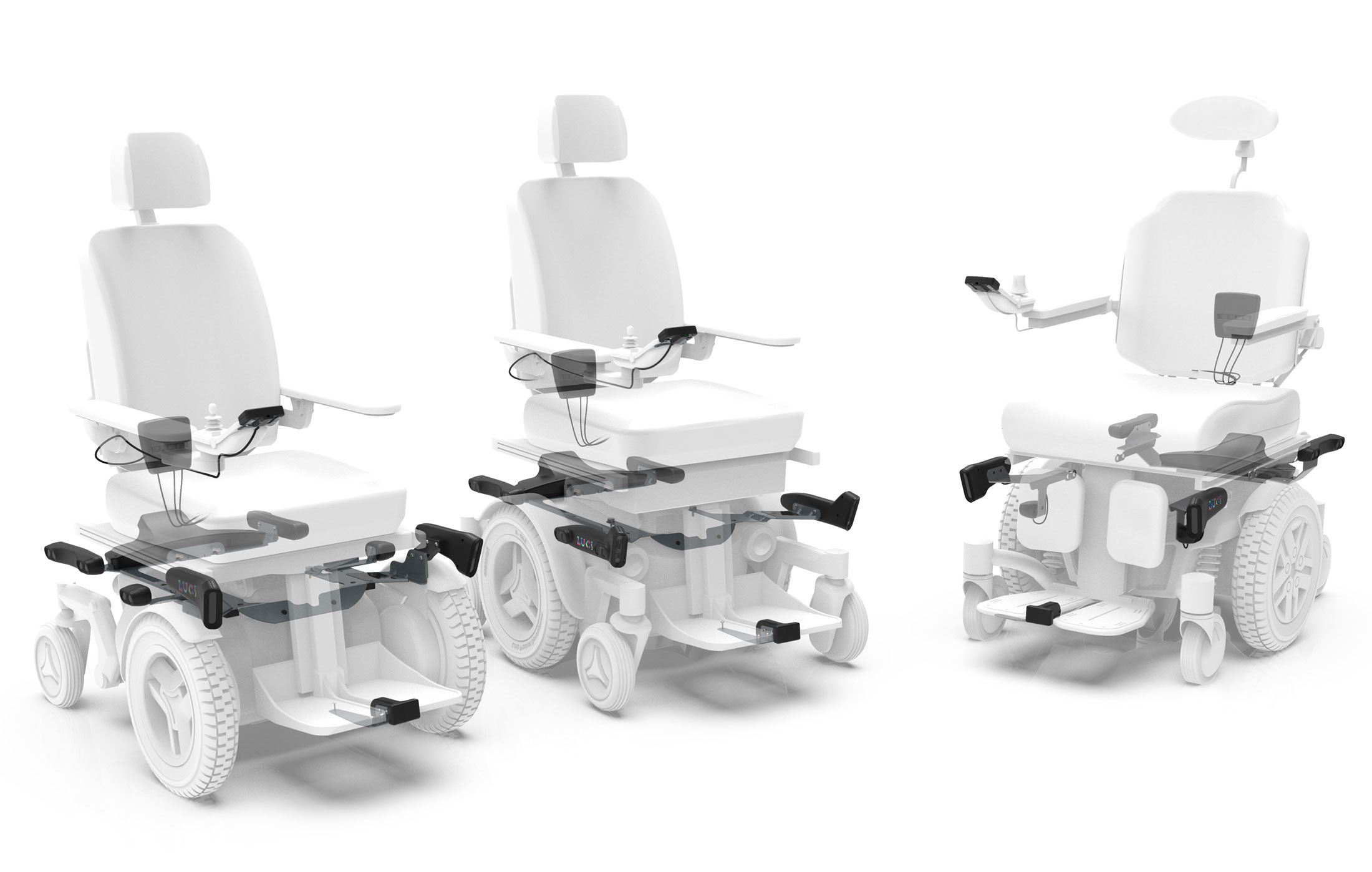 rendering of Luci stability Software installed on electric wheelchair