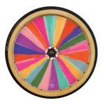 Rainbow colored push hub