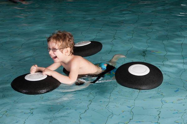 Child using pirat to float
