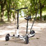 3 wheel bike scooter in park