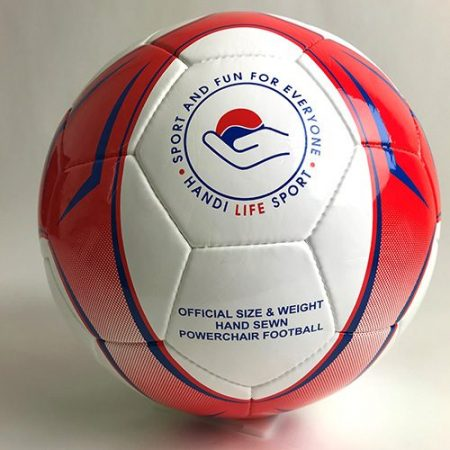 Red and White Oversize Soccer Ball