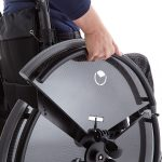 removable trividia wheelchair wheel section