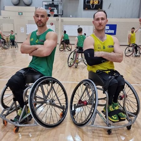 Orion Basketball Wheelchairs in use by Australian Rollers players at Paralympics