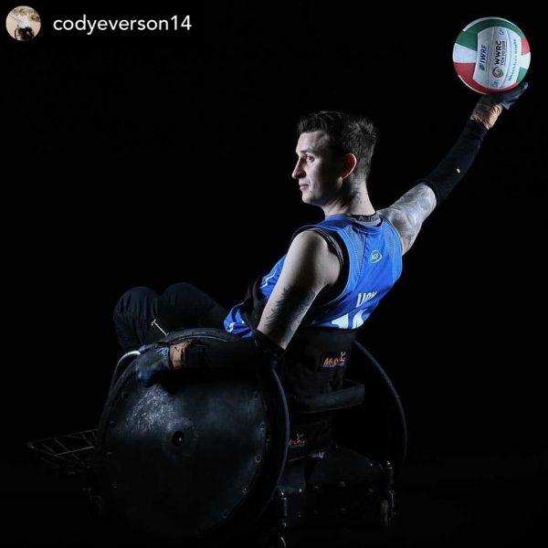 Sleek Melrose wheelchair being used by elite athlete