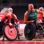 Riley Batt playing at paralympics in Melrose Wheelchair