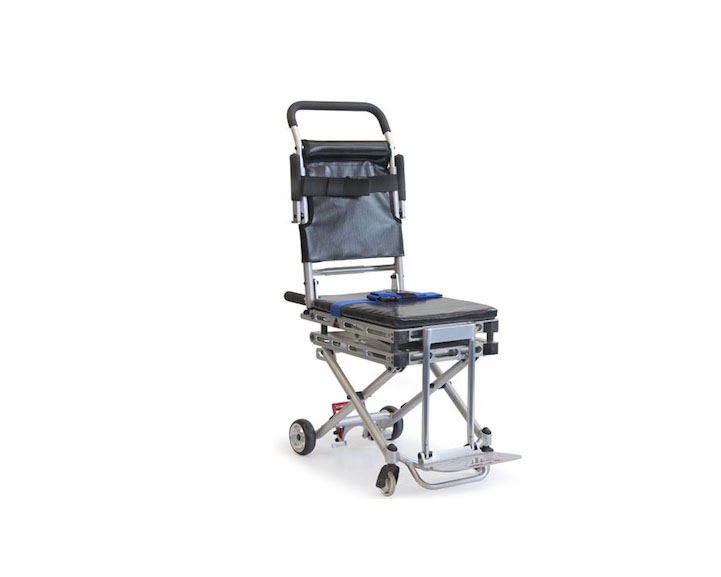 Compact aisle onboard lift wheelchair