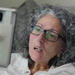 Sarah using look to speak app to communicate via eye gaze