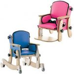 Blue and Pink Leckey Pal Classroom chair