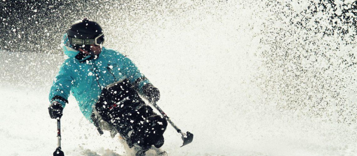 Dual Sit-Ski Snow Splash. Image - Tessier.