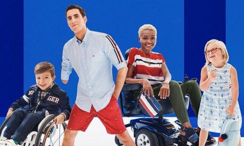 4 adaptive models wearing tommy adaptive clothing range